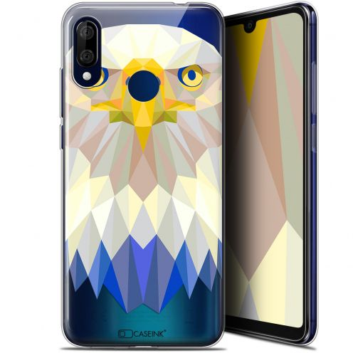 "Extra Slim Gel Wiko View 3 LITE (6.09"") Case Polygon Animals Eagle"