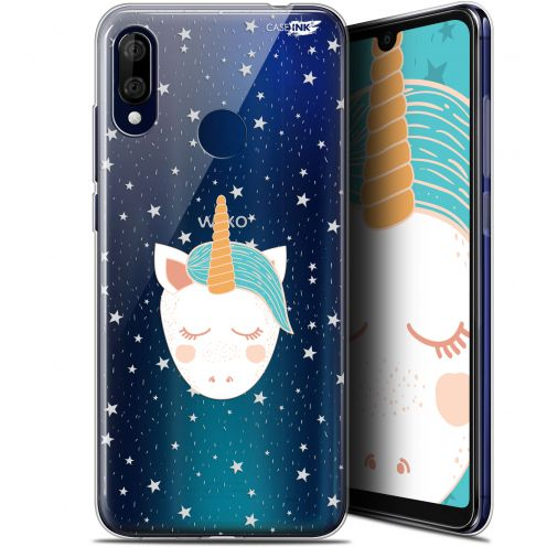 "Extra Slim Gel Wiko View 3 LITE (6.09"") Case Design Licorne Dors"