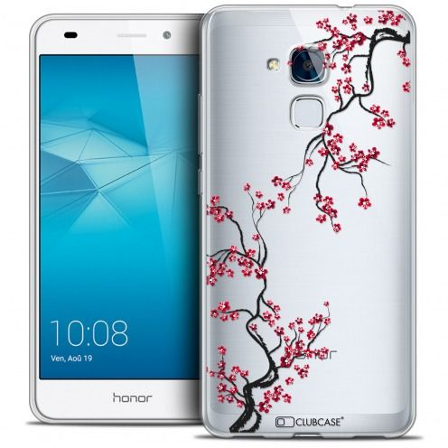 Extra Slim Crystal Gel Huawei Honor 5C Case Summer Sakura