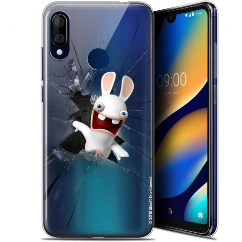 """Gel Wiko View 3 LITE (6.09"""") Case Lapins Crétins™ Breaking Glass"""