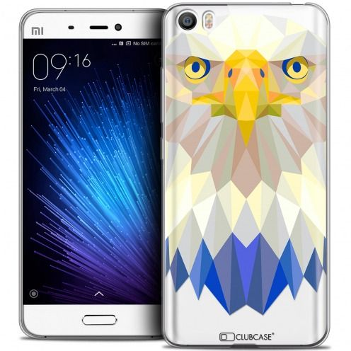 Extra Slim Crystal Gel Xiaomi Mi 5 Case Polygon Animals Eagle