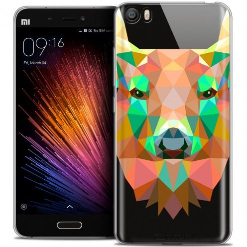 Extra Slim Crystal Gel Xiaomi Mi 5 Case Polygon Animals Deer
