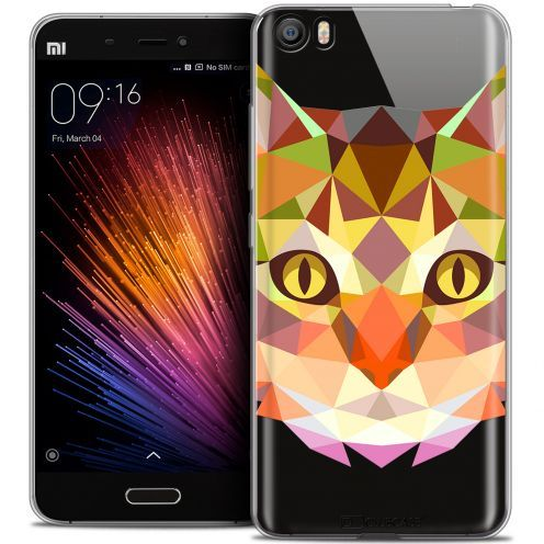 Extra Slim Crystal Gel Xiaomi Mi 5 Case Polygon Animals Cat