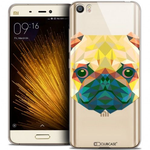 Extra Slim Crystal Gel Xiaomi Mi 5 Case Polygon Animals Dog