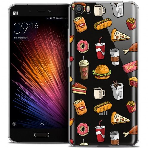 Extra Slim Crystal Gel Xiaomi Mi 5 Case Foodie Fast Food