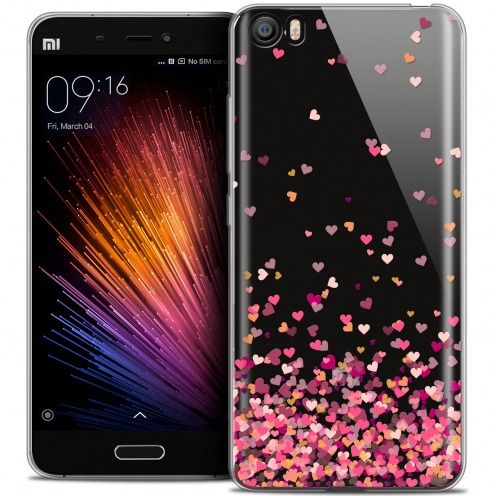 Extra Slim Crystal Gel Xiaomi Mi 5 Case Sweetie Heart Flakes