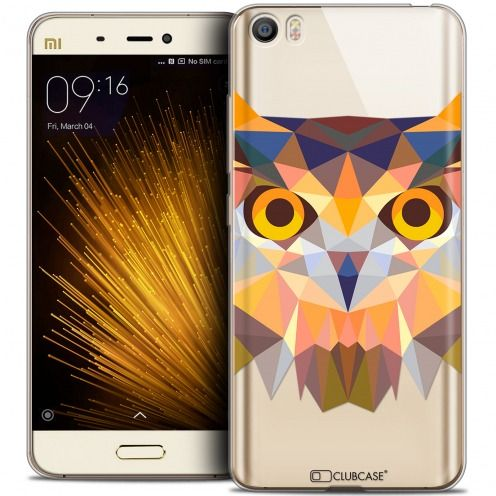 Extra Slim Crystal Gel Xiaomi Mi 5 Case Polygon Animals Owl