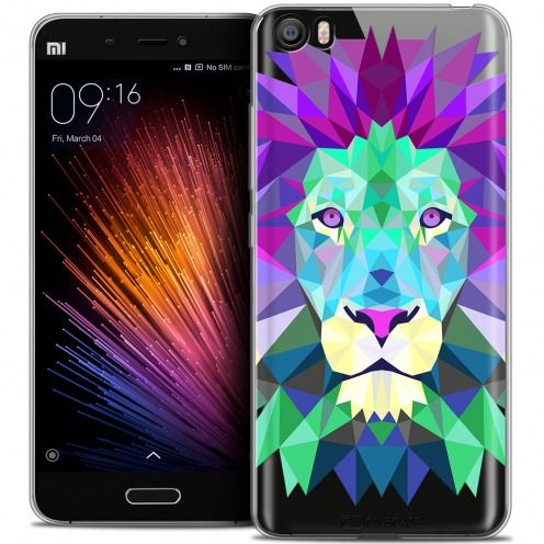 Extra Slim Crystal Gel Xiaomi Mi 5 Case Polygon Animals Lion