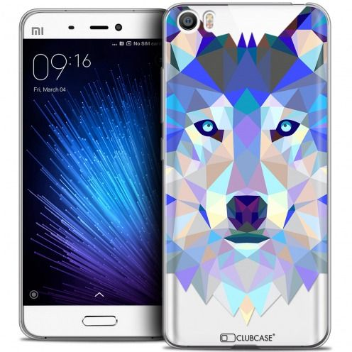 Extra Slim Crystal Gel Xiaomi Mi 5 Case Polygon Animals Wolf