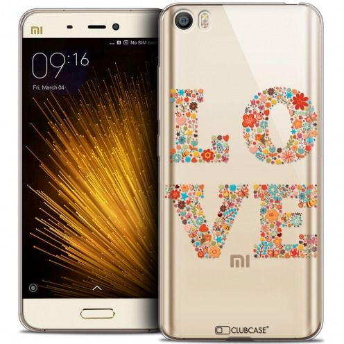 Extra Slim Crystal Gel Xiaomi Mi 5 Case Summer Love Flowers