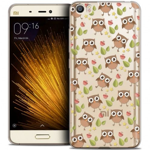 Extra Slim Crystal Gel Xiaomi Mi 5 Case Summer Hibou
