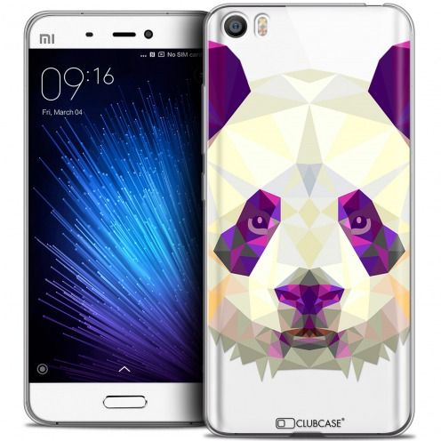 Extra Slim Crystal Gel Xiaomi Mi 5 Case Polygon Animals Panda