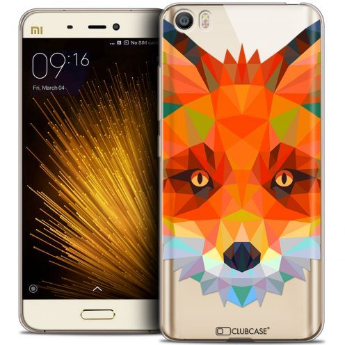 Extra Slim Crystal Gel Xiaomi Mi 5 Case Polygon Animals Fox