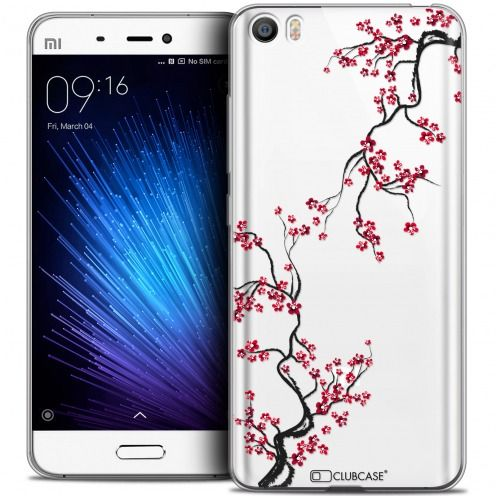 Extra Slim Crystal Gel Xiaomi Mi 5 Case Summer Sakura