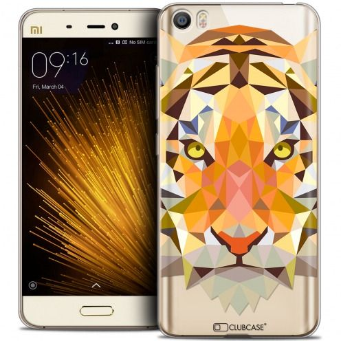 Extra Slim Crystal Gel Xiaomi Mi 5 Case Polygon Animals Tiger