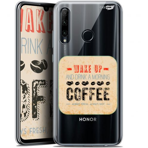 "Extra Slim Gel Huawei Honor 20 LITE (6.2"") Case Design Wake Up With Coffee"