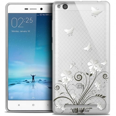 Extra Slim Crystal Gel Xiaomi Redmi 3 Case Summer Papillons