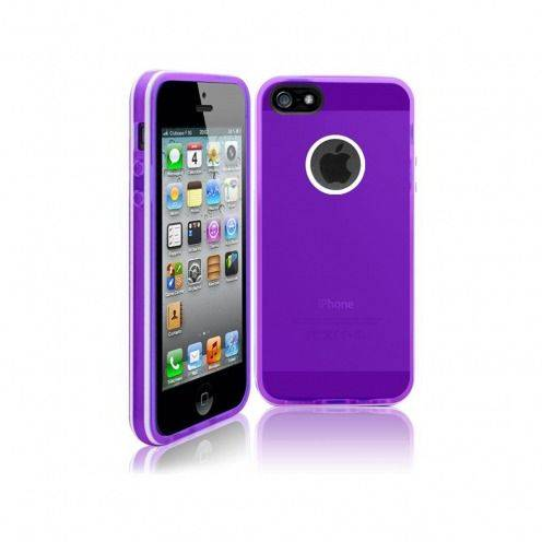 White Stripes iPhone 5 soft case purple