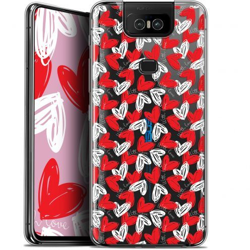 "Extra Slim Gel Asus Zenfone 6 ZS630KL (6.4"") Case Love With Love"