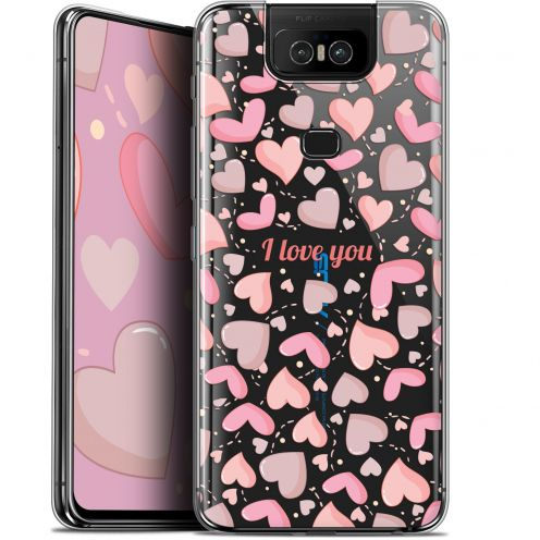 "Extra Slim Gel Asus Zenfone 6 ZS630KL (6.4"") Case Love I Love You"