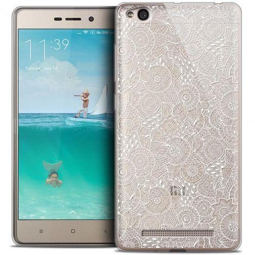 Extra Slim Crystal Gel Xiaomi Redmi 3 Case Floral Lace Collection - White