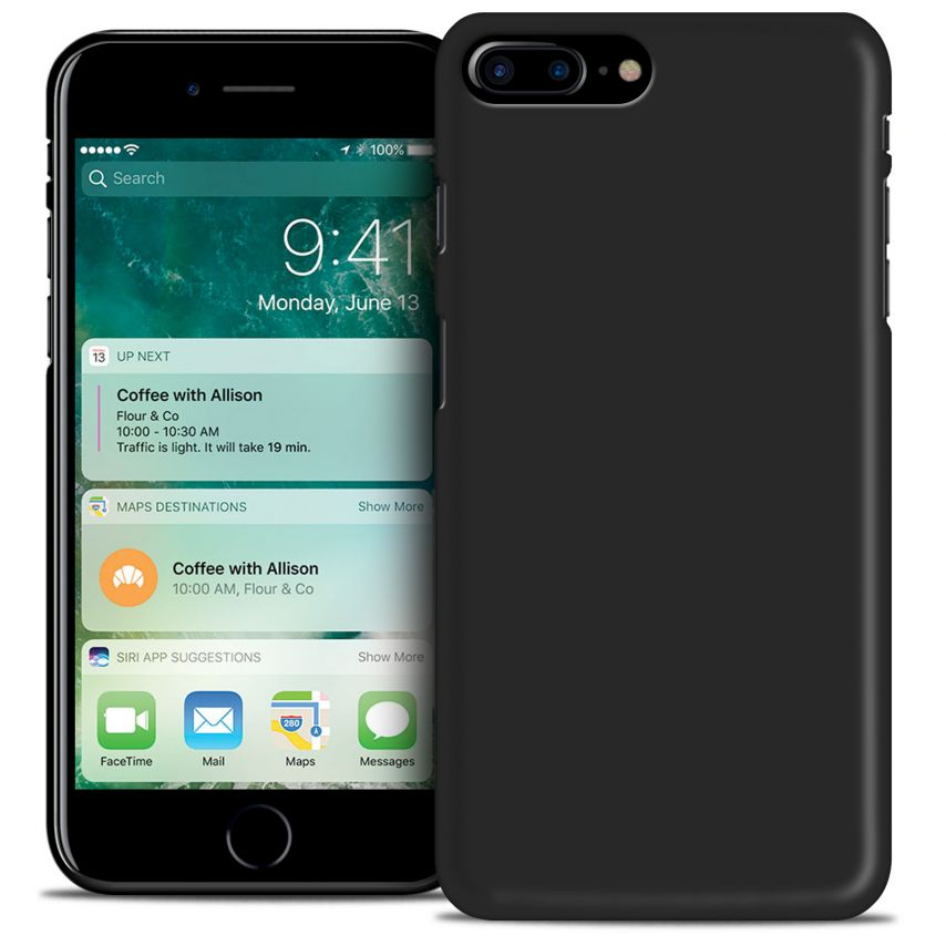 """Frozen Ice Extra Slim soft Black opaque case for iPhone 7 Plus 5.5"""""""
