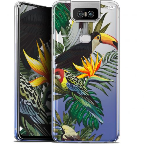 "Extra Slim Gel Asus Zenfone 6 ZS630KL (6.4"") Case Design Toucan Tropical"
