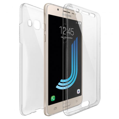 Samsung Galaxy J5 2016 (J510) TPU Gel Defense 360° Front Back Case - Clear