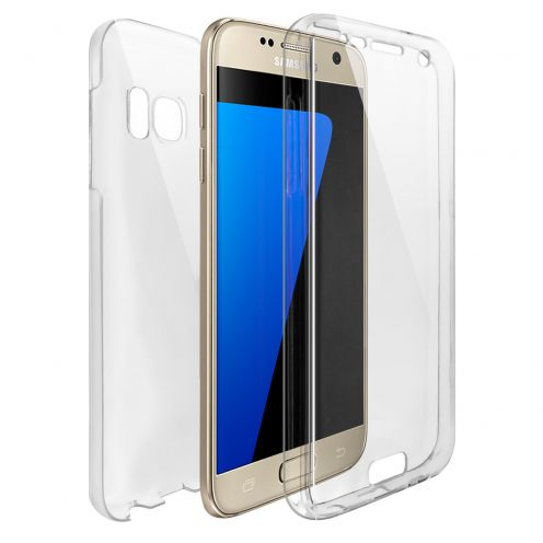Samsung Galaxy S7 (G930) TPU Gel Defense 360° Front Back Case - Clear