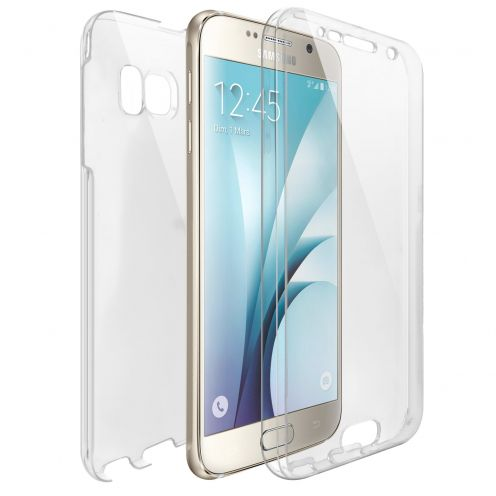 Samsung Galaxy S6 (G920) TPU Gel Defense 360° Front Back Case - Clear