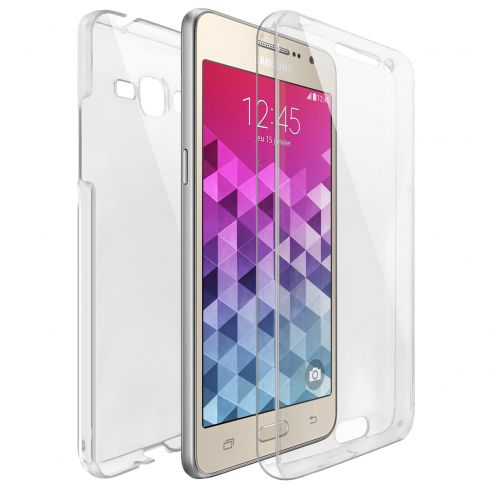 Samsung Galaxy Grand Prime (G530) TPU Gel Defense 360° Front Back Case - Clear