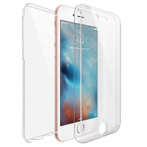Apple iPhone 6/6s Plus (5.5) TPU Gel Defense 360° Front Back Case - Clear