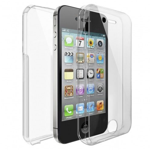 Apple iPhone 4/4s TPU Gel Defense 360° Front Back Case - Clear