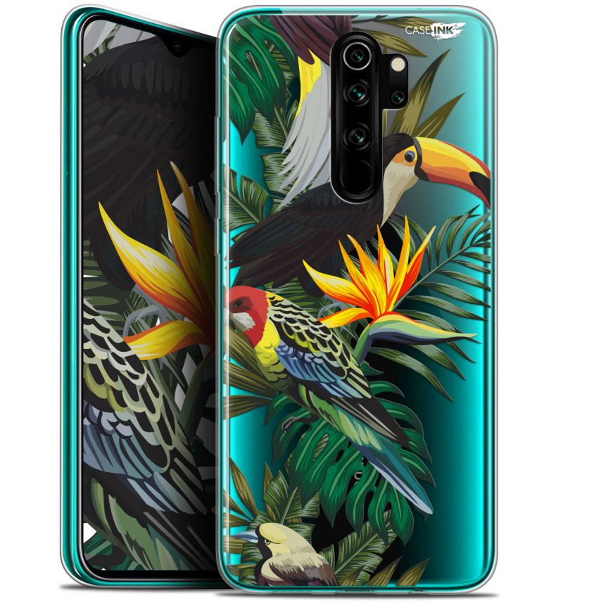 "Extra Slim Gel Xiaomi Redmi Note 8 PRO (6.5"") Case Design Toucan Tropical"