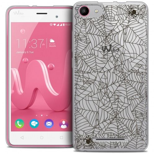 Extra Slim Crystal Gel Wiko Jerry Case Halloween Spooky Spider