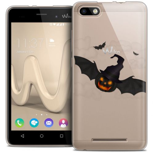 Extra Slim Crystal Gel Wiko Lenny 3 Case Halloween Chauve Citrouille