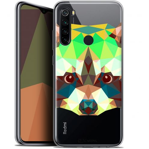 "Extra Slim Gel Xiaomi Redmi Note 8 (6.3"") Case Polygon Animals Raton Laveur"