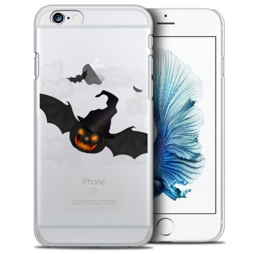 Extra Slim Crystal iPhone 6/6s Plus (5.5) Case Halloween Chauve Citrouille