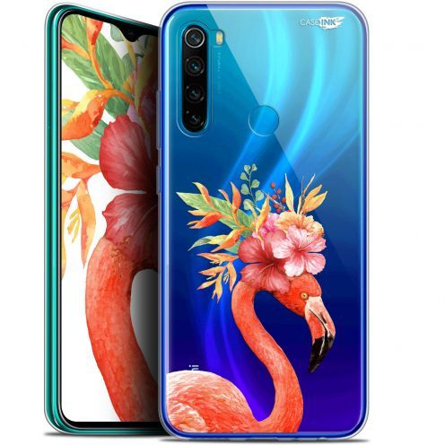 "Extra Slim Gel Xiaomi Redmi Note 8 (6.3"") Case Design Flamant Rose Fleuri"