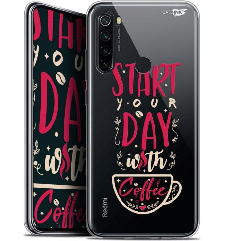 "Extra Slim Gel Xiaomi Redmi Note 8 (6.3"") Case Design Start With Coffee"