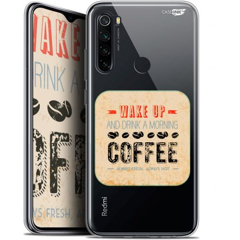 "Extra Slim Gel Xiaomi Redmi Note 8 (6.3"") Case Design Wake Up With Coffee"
