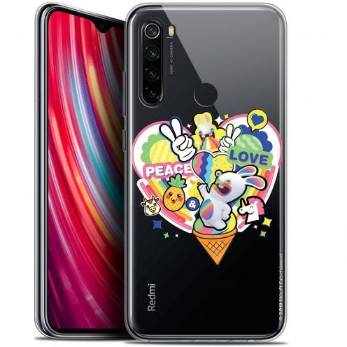 "Gel Xiaomi Redmi Note 8 (6.3"") Case Lapins Crétins™ Peace And Love"