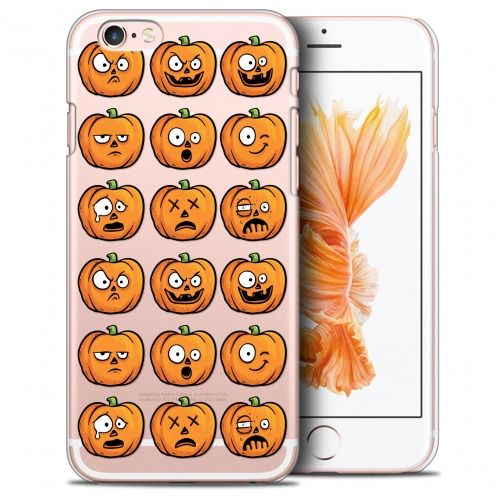 Extra Slim Crystal iPhone 6/6s Plus (5.5) Case Halloween Cartoon Citrouille