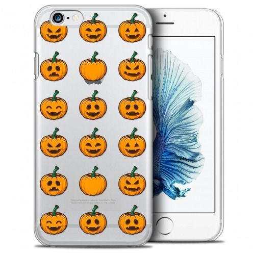 Extra Slim Crystal iPhone 6/6s Plus (5.5) Case Halloween Smiley Citrouille