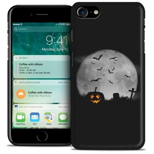 Hallowen Extra Slim Opaque case for iPhone 7 (4.7) La Citrouille du Cimetière