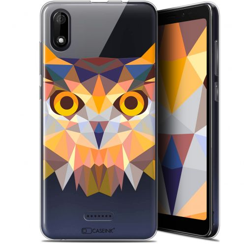 "Extra Slim Gel Wiko Y60 (5.45"") Case Polygon Animals Owl"