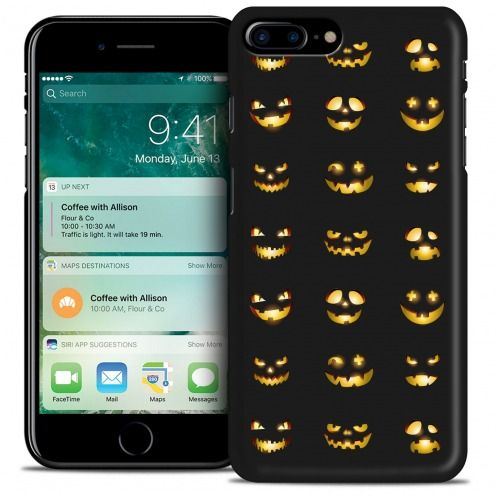 Hallowen Extra Slim Opaque case for iPhone 7 Plus (5.5) Smiley Citrouille