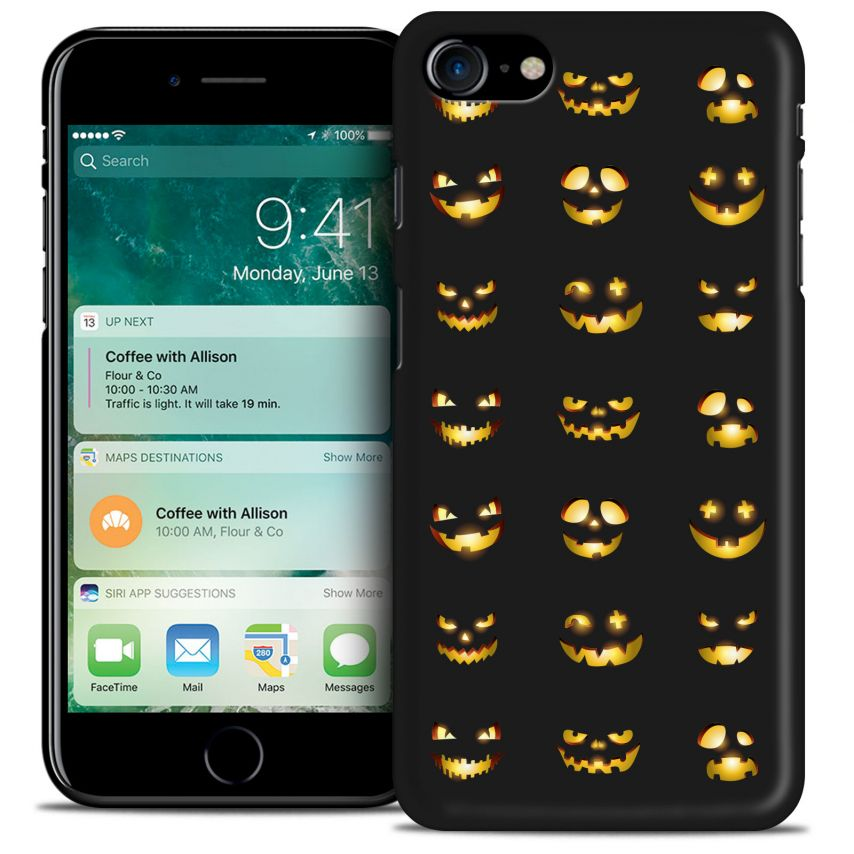 Hallowen Extra Slim Opaque case for iPhone 7 (4.7) Smiley Citrouille