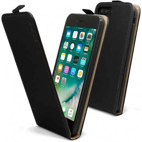 Clamshell Flip Flexi Case for Apple iPhone 7/8 Plus (5.5) Eco Leather Black