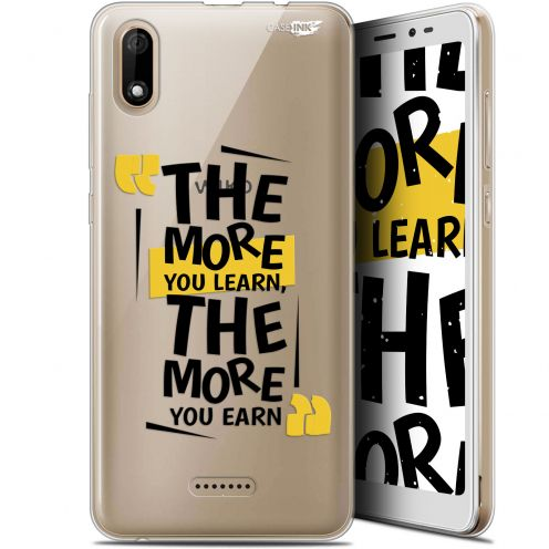 """Extra Slim Gel Wiko Y60 (5.45"""") Case Design The More You Learn"""